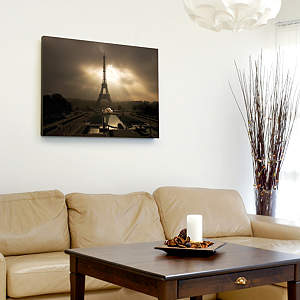 Eiffel Tower at Dusk Canvas